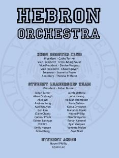 11 Hebron orchestra credits